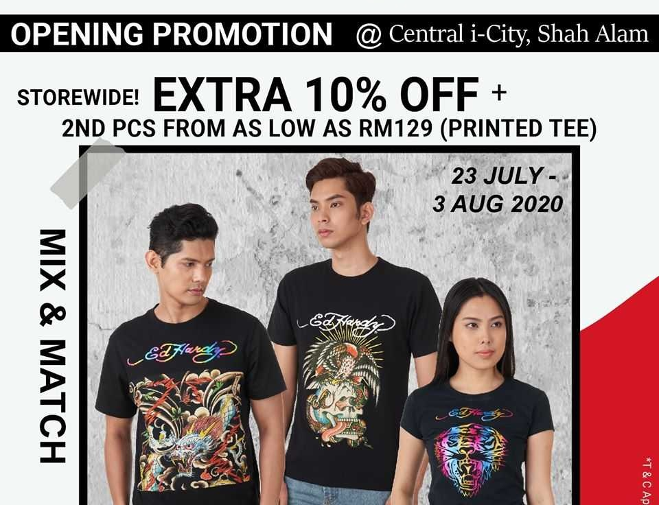 ED HARDY CENTRAL I-CITY EXCLUSIVE OPENING DEAL